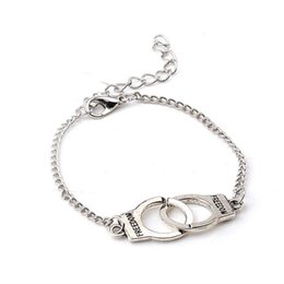 7988c4e8f Simple Handcuff Chain Bracelet Partners in Crime Best Friends Freedom Link  Charm Bracelet