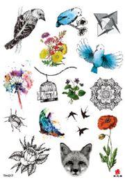 $enCountryForm.capitalKeyWord Australia - Temporary Tatoo Fake Tattoo Sticker Mandala Flower Bird Cat Dog Tattoos Tatouage Waterproof Flash Tatto Art For Men Women Girl