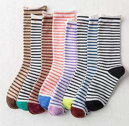 $enCountryForm.capitalKeyWord Australia - Womens Stripe Colorful Pile Heap Long Socks Teen Stocking Casual Cozy Soft Stylish Cotton Mid Tube Socks Hosiery