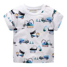 $enCountryForm.capitalKeyWord Australia - Summer White Casual T-Shirt Blouse Kids Baby Boys Short Sleeve Cartoon Pattern O-neck Tops T-Shirt Clothes #BL2