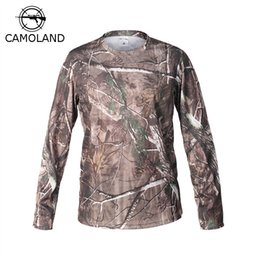 Quick Dry Shirts For Men Australia - 2017 New Tactical Military Camouflage T Shirt Male Breathable Quick Dry Us Army Combat Full Sleeve Outwear T-shirt For Men C19041303