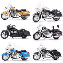diecast motorcycles Australia - 1 18 Scale Children maisto mini FLHR Road King Diecast metal model motorcycle Cruiser touring vehicles bike toys for