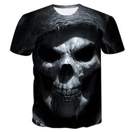 $enCountryForm.capitalKeyWord Australia - S-4XL Men Cool Skull Printed Casual T-shirt Short Sleeves Slim Tee Shirt Man Fitness Tank Top