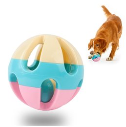 $enCountryForm.capitalKeyWord Australia - Best Selling New Pet Training Untiring Decompression Cat Dog Teddy Ringing Bell Ball Toy Candy Color Free Shipping