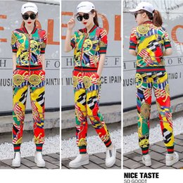 Discount leisure clothing for women Tracksuit for women summer clothes for women Athletic Wear Suit Woman Summer Wear 2020 New Fashion Printing Style Leisur