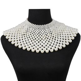 9289fbf8e0 Shop Pearl Gold Bib Necklace UK | Pearl Gold Bib Necklace free ...