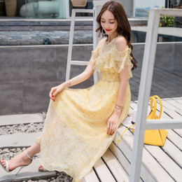 $enCountryForm.capitalKeyWord Australia - Fragmented Chiffon Dress summer 2019 new Korean version of fashionable pendulum dress Bohemian long skirt beach skirt