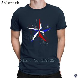 cool star designs NZ - American Flag Nautical Star Grunge T Shirts awesome 2018 big sizes Designing tshirt for men cool best Anlarach HipHop Top