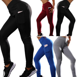 TighT black yoga panTs online shopping - Yoga Pants Sport Leggings Tights Trousers Running Women Fitness Bodybuilding Slim Good Elasticity Ventilation colors MMA1610