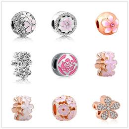 Wristband Flowers Australia - Fashion new style wristband bead flower series beads fit bracelet European style beads fit Pandora bracelet jewelry bracelet diy beads ZY112