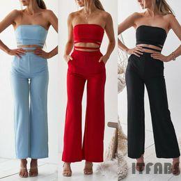 Jumpsuit Fashion Romper Australia - Fashion Sexy Women Ladies Off Shoulder Solid Wrapped chest Bodycon Skinny Slim Jumpsuit Romper Clubwear