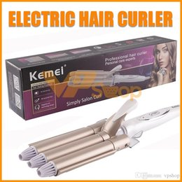 $enCountryForm.capitalKeyWord Australia - Kemei KM-1010 Hair Curler Professional Curling Iron Ceramic Styling Tools Twist Irons Hair Waver Wand Tong Waving for Curly Hair DHL