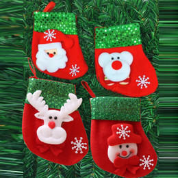 $enCountryForm.capitalKeyWord Australia - 1 x Christmas stockings cute socks Santa candy gift bags Christmas ornaments small gift bag pendant decoration calciteins