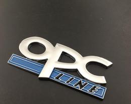 Opel Emblem Badge Sticker Australia - Car-Styling 3D Metal OPC LINE Letter Chrome Badge Emblem Car stickers For Opel New Regal Jun Yue Yinglang chrome