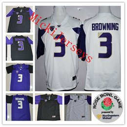 Mens NCAA Washington Huskies Jake Browning College Football Jerseys  Stitched  3 Jake Browning Washington Huskies Rose Bowl Game Jersey S-3XL 847c812cf