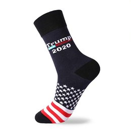 wholesale gifts homes UK - Man Woman Trump Socks 2020 Knit Socks New Mid Tube Sock US Presidential ElectionPrint Middle Long Socks Home Party Gifts WX9-1449