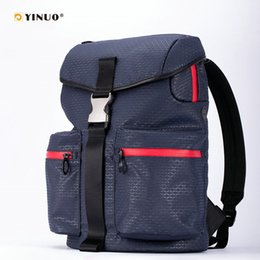 Wholesale YINUO Fashion Backpack inch USB Charging Laptop Bag Waterproof Oxford With PU Coated Fabric Luggage Strap Anti Theft Back