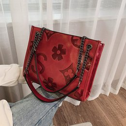Free purse patterns zippers online shopping - 2019 New Retro Chain Shoulder Bag Fashion Letter Large Capacity Messenger Tote Bag Flower Pattern Crossbody Purse