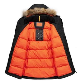 Wholesale mens raccoon fur coats for sale – warmest winter Men Winter Padded Parka Men Warm Coat Detachable Raccoon Fur Mens Parkas Thick Jackets Plus Size Hoody Outwear Casual Warm Coats