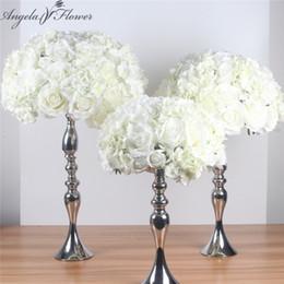 $enCountryForm.capitalKeyWord Australia - Silk Artificial Centerpieces Ball Diy All Kinds Of Flower Heads Wedding Decor Wall Shop Window Table Accessorie 4 Sizes Q190522