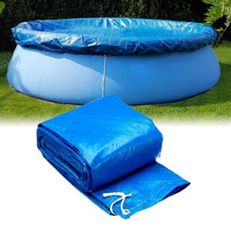 Wholesale pools cover for sale - Group buy Swimming pool cover cloth cloth bracket pool cover inflatable swimming dust diaper round PE