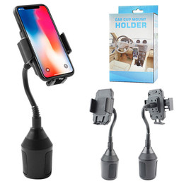 Gooseneck car phone holder online shopping - Cup Car Phone Holder Degree Car Mount With Long Gooseneck for iPhone Xs Plus Samsung Galaxy S10 S9 S8