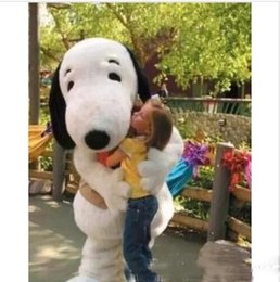 Snoopy coStumeS online shopping - best shipping new EPE Adult Size Snoopy Dog Mascot Costume Halloween Chirastmas Party Fancy Dress
