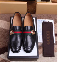 b32a2635e Brand Luxury Designer Brand Male Casual Flats Shoe Cowhide Leather Slip-on  Mocassin Metal Button Men's Suit Shoe Zapatillas Size 38-45