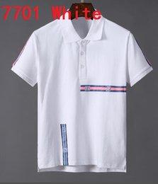 $enCountryForm.capitalKeyWord NZ - Fashion 2019 Summer New Arrival Men's Polo Neck Lapel Short Sleeve Sweatshirts T-shirts Cotton Embroidery FF Tee Shirts 92N