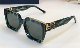 Ingrosso Luxury- MILLIONAIRE M96006WN Occhiali da sole full frame Occhiali da sole vintage firmati da uomo Logo in oro lucido Vendita calda Placcato oro Top qualit 96006