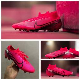 Vente en gros 2020 de qualité supérieure chaussures pour hommes de football Mercurial Superfly 7 crampons de football Elite FG CR7 chaussures de football Neymar da Vapeurs 13 scarpe calcio