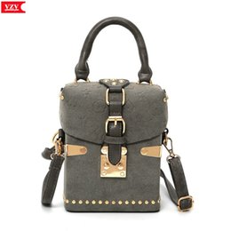 box handbags NZ - Retro Women Box Messenger Bags Popular Fashion Handbag Rivet Style Young Girls Bags Drop Shipping Sanding leather Designer sac #187358