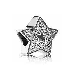 big star beads 2019 - Little Star In Big One Alloy Charm Bead Fashion Jewelry Stunning European Style Fit For DIY Bracelet Bangle discount big