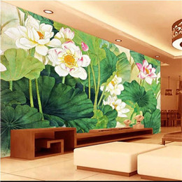 kitchen anti oil stickers UK - custom size 3d photo wallpaper living room bed room kids mural giant lotus oil painting picture sofa TV backdrop wall wallpaper wall sticker