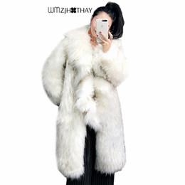 Discount long braiding hair weave - 2018 New Fashion Ruffled Imitation Braid Hair Woven Fur Women's Coat Luxury Fox Fur Long Winter Warm Outerwear Fema