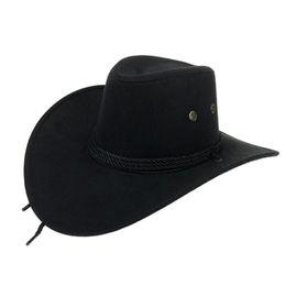 Discount wholesale ladies sun visor hats - Large Sun Visor Hats Solid Color Wide Brim Suede Hats Winter Beach Hat For Lady Men