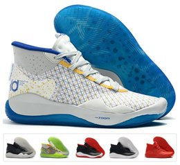 ec925ccd2a67 2019 Mvp Kevin Durant KD 12 11 Anniversary University 12s 11s Oreo Men  Basketball Shoes Elite KD12 EYBL Multicolor Sports Trainers Sneakers