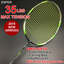 $enCountryForm.capitalKeyWord Australia - ESPER Badminton Racket With String and Gifts Lightweight Racquet High Quality Graphite Fiber Max Tension 35LBS for Professional