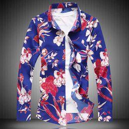 2331057e7 2019 Autumn New Fashion Male Shirt Casual Long Sleeve Button Shirt For Men  Printed Floral Shirts Men Plus Size 5xl 6xl 7xl
