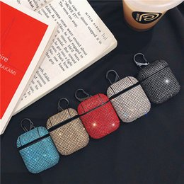 $enCountryForm.capitalKeyWord Australia - For Apple AirPods 2 1 earphone Cover Bluetooth Headset cover Cute sexy glitter sequins bling hard protection Wireless Earphone Charging case