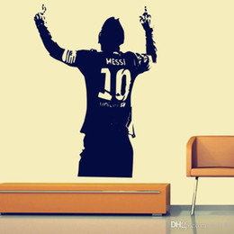 $enCountryForm.capitalKeyWord Australia - Hot Sale Lionel Messi World Cup Wall Stickers Murals PVC Removable Football Sports Wall Decals for Living Room and Boys Room Decoration