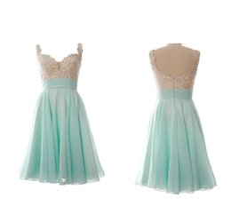 $enCountryForm.capitalKeyWord Australia - 2019 Mini Green Short Prom Dresses Applique Beads Sequin Sweetheart Party Dress Girls Special Occasion Cocktail Homecoming Dresses Cheap