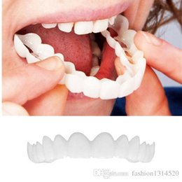 Wholesale 2 pcs NEW Bursting products Teeth Whitening Perfect Comfortable Cosmetic Teeth Denture Smile Teeth Top Veneers for Women Men Free shipping