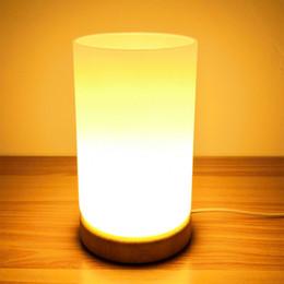 $enCountryForm.capitalKeyWord UK - Modern USB glass warm light table lamps novel flower arrangement night light for bedroom bedside restaurant store hotel room
