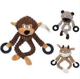 3 Cores Brinquedos Do Cão Roendo Cordoa Animais de Estimação Brinquedos para Animais de Estimação Durável 100% Algodão Natural Brinquedos de Mastigação De Pelúcia Para Cães venda por atacado