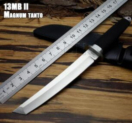 Wholesale swords knifes online – design Cold steel MAGNUM Tanto Blade Tai pan D Survival Fixed Bowie Hunting Knife Japanese Warrior Sword Tactical Survival SAN MAi Samurai