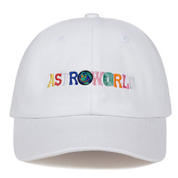 funny baseball Australia - New Funny Embroidery Casual Dad Caps ASTROWORLD Colour Letters Baseball Cap Fitted Sun Hat Unisex Comfortable Hip Hop Cap