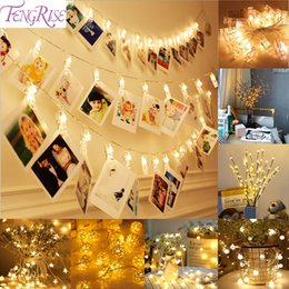 tea clip Canada - Fengrise 10pc Photo Clip Led Lights Wedding Decoration Christmas Party Decorations Celebrations Wedding Events Party Home Decor C19041701