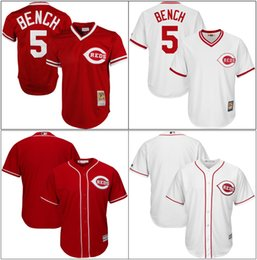 a6b323bf31b Baseball Jerseys Cincinnati Reds Australia - Men Cincinnati New Cheap Blank Jersey  Reds Johnny 5 Bench