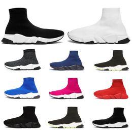 Designer shoes online shopping - 2020 designer sock shoes triple black white men women fashion sneakers glitter yellow blue pink fashion mens trainer runner platform shoe